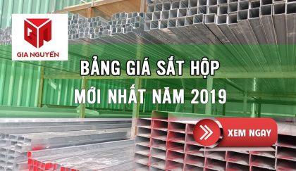 bảng báo giá sắt hộp mạ kẽm 2019