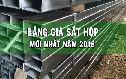 giá sắt hộp 2018