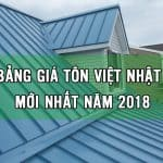 giá tôn việt nhật 2018